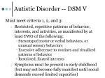 autistic disorder dsm v2