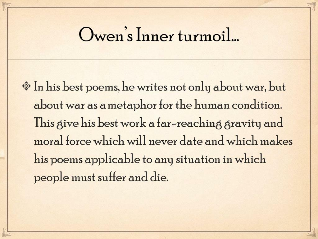 Ppt The Poems Of Wilfred Owen Powerpoint Presentation