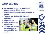 a new deal 2013