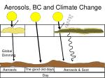 aerosols bc and climate change
