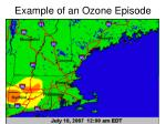 example of an ozone episode