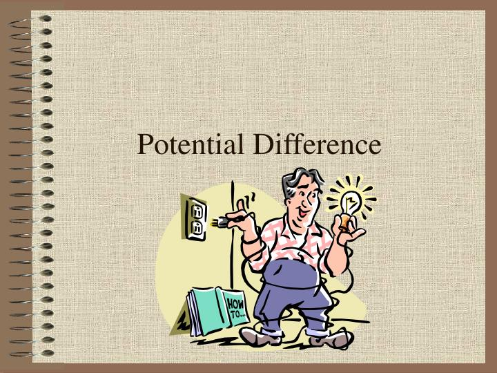 potential difference n.