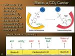 biotin a co 2 carrier