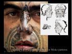 traditional division of the face for moko patterns