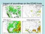 impact of soundings on the edas fcsts