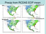 precip from rcdas eop mean