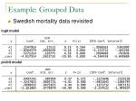 example grouped data