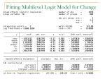 fitting multilevel logit model for change