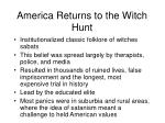 america returns to the witch hunt
