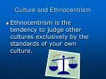 culture and ethnocentrism