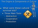 the origins components of culture1
