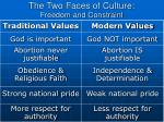 the two faces of culture freedom and constraint5