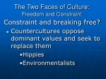 the two faces of culture freedom and constraint9