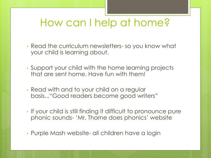 How can I help at home?