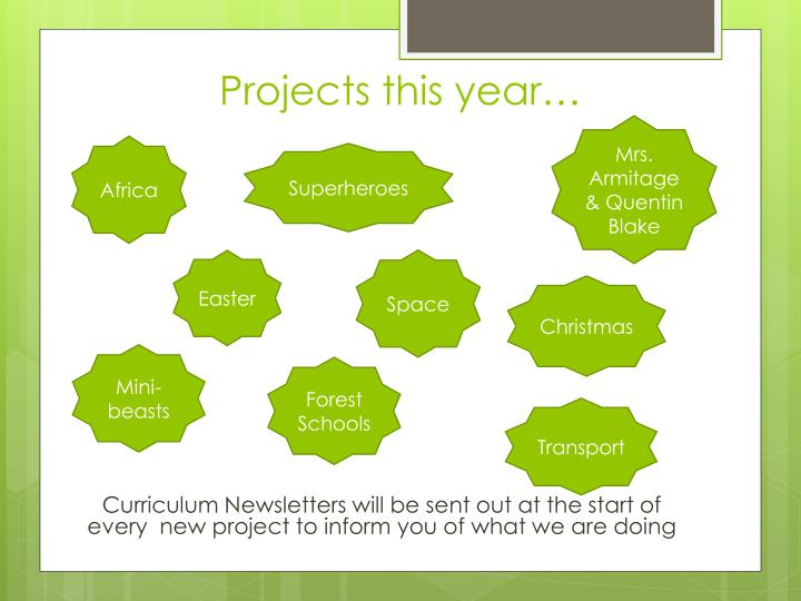 Projects this year…
