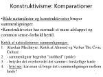 konstruktivisme komparationer