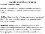 sociale tankeeksperimenter