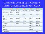 changes in leading causes rates of death usa rank deaths per 100 000
