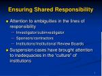 ensuring shared responsibility