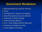 government shutdowns