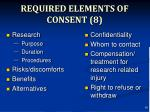required elements of consent 8