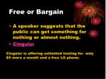 free or bargain