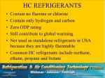 hc refrigerants