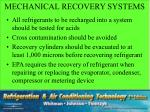 mechanical recovery systems1