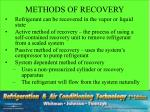 methods of recovery