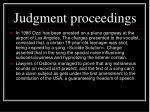 jud gment proceedings