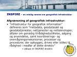 inspire en retslig ramme om geografisk infrastruktur