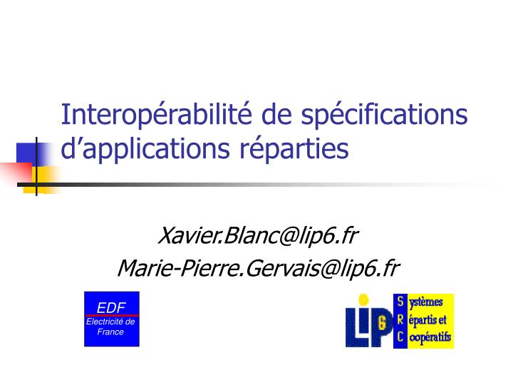 interop rabilit de sp cifications d applications r parties n.