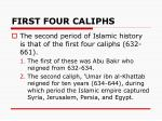 first four caliphs