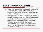 first four caliphs1