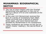 muhammad biographical sketch