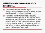 muhammad biographical sketch2
