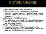 diction analysis