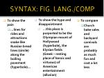 syntax fig lang comp