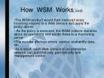how wsm works cont