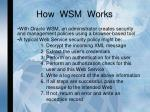 how wsm works