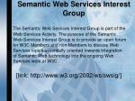 semantic web services interest group