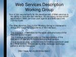 web services description working group