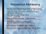 webservice addressing