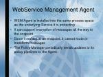 webservice management agent
