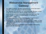 webservice management gateway