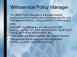 webservice policy manager