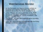 webservices monitor