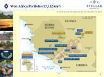 west africa portfolio 15 112 km 2