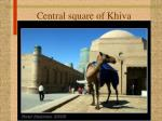 central square of khiva