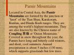 pamir mountains